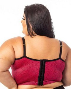 CROPPED DIVA STRAPPY BRA liso PLUS SIZE