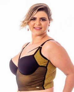 CROPPED DIVA STRAPPY BRA Estampa Plus Size