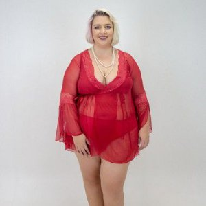 Robe Tule  Plus Size