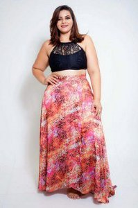 Saida Saia Animal Print Plus Size