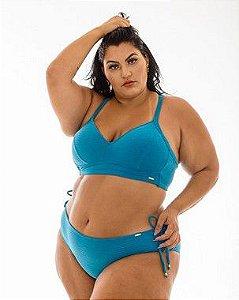 Tanga Fernanda azul e preta Plus Size