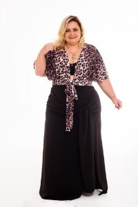Croped Transpassado Viviane Plus Size