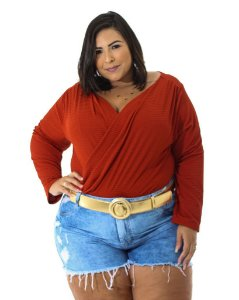 Short Jeans Desfiado Plus Size