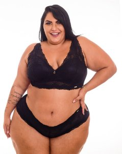 Sutiã Sissia Renda Samara Plus Size
