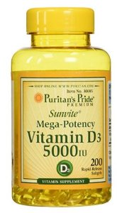 Vitamina D3 5.000 ui | 200 Softgels - Puritan's Pride
