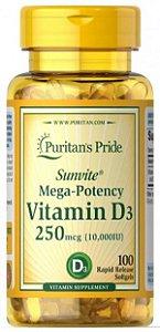 Vitamina D3 10.000Uui | 100 Softgels - Puritan's Pride