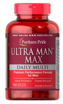 Ultra Man Max - Uso Diario | 90 tablets (O mais completo) - Puritan's Pride