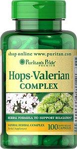 Valeriana + Passiflora + Humulus Lupulus (HOPS-Valerian Complex) | 100 Cápsulas - Puritan's Pride