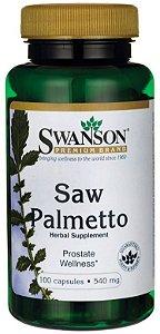 Saw Palmetto 540mg | 100 Cápsulas - Swanson