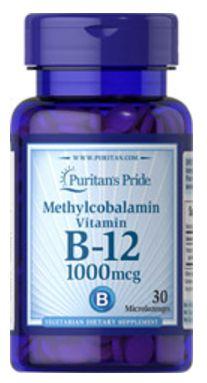 Vitamina B-12 1.000mcg (Methylcobalamin)   30 Tablets - Puritan