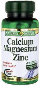Cálcio, Magnésio e Zinco | 100 Tablets - Nature's Bounty