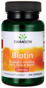 Biotina 5mg (5.000 mcg) | 100 Cápsulas - Swanson