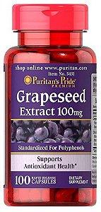 Grapeseed (Extrato de Semente de Uva) 100mg | 100 Cápsulas - Puritan's Pride