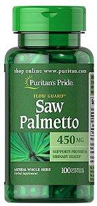 Saw Palmetto 450mg | 100 Cápsulas - Puritan's Pride