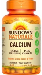 Cálcio (1200mg) + Vitamina D3 (1000ui) | 300 Softgels - Sundown Naturals
