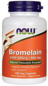 Bromelain 500mg  | 120 Cápsulas - Now Foods