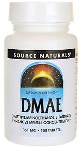 DMAE 351mg | 100 Cápsulas - Source Naturals