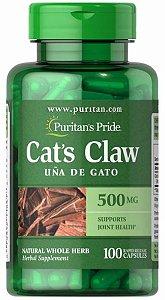 Unha de Gato (Uncaria Tomentosa) - Cat's Claw  500mg | 100 Cápsulas - Puritan's Pride