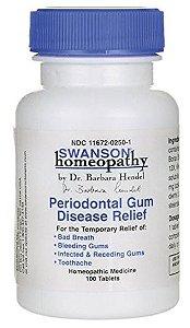 Goma Homeopática para alívio da dor de dente, sangramento e mau hálito | 100 tablets - Swanson