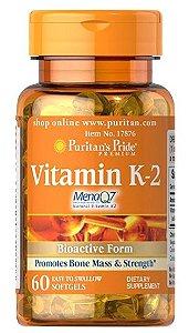 Vitamina K-2 (MenaQ7) 50 mcg | 60 Cápsulas - Puritan's Pride