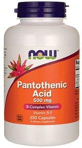 Ácido Pantoténico (vitamina B-5) 500mg| 250 Cápsulas - Now