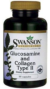 Glucosamina 1500mg & Colágeno Tipo II  750mg | 90 Capsulas - Swanson