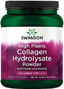 Colágeno Hidrolisado Tipo I e III | 454g - Swanson