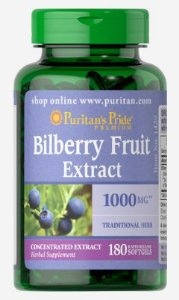 Extrato de Mirtilo (Bilberry) 1000mg| 180 Softgels - Puritan's Pride