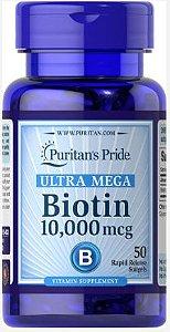 Biotina ULTRA MEGA 10.000mcg | 50 Softgels- Puritan
