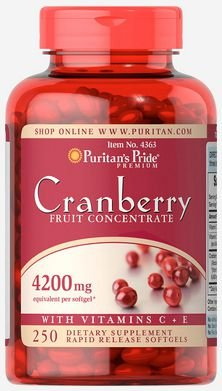 Cranberry 4.200mg + Vitamina C & E | 250 Softgels  - Puritan's Pride