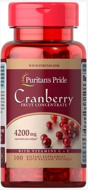 Cranberry 4.200mg + Vitamina C & E | 100 Softgels  - Puritan's Pride