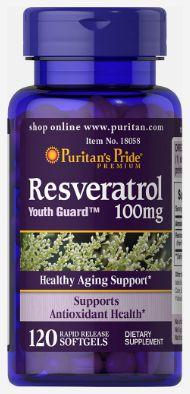Resveratrol 100mg | 120 cápsulas - Puritan's Pride