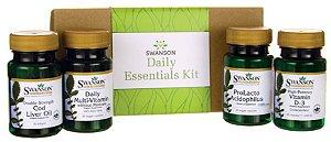 Daily Essential Kit - Óleo de Fígado de Bacalhau / Polivitaminico / Probioticos / Vitamina D | 120 cápsulas (total)