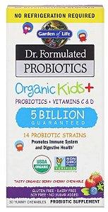 Probiótico Infantil Orgânico (Dr. Formulated Probiotics Organic Kids+) | 30 comprimidos mastigáveis