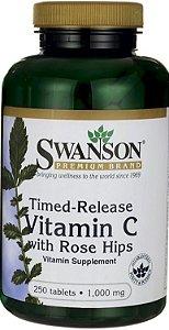 Vitamina C 1000mg com Rose Hips | 250 Tablets - Swanson