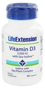 Vitamina D3 5.000 UI  + IODO Natural| 60 Softgels - LifeExtension