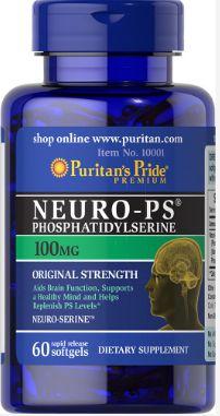 Neuro-PS (Phosphatidylserine) 100 mg | 60 Softgels - Puritan's Pride