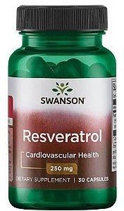 Resveratrol 250mg  | 30 cápsulas - Swanson Ultra