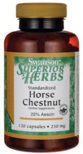 Castanha da India ( Horse Chestnut ) 250mg    120 Cápsulas - Swanson (Superior Herbs)