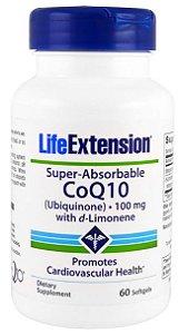 Ubiquinona CoQ10 Superabsorvível com d-Limoneno | 60 Softgels - Life Extension