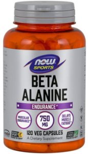 Beta Alanine 750mg | 120 cápsulas - Now