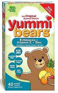 Yammi Bear Kids - Vitamina C + Zinco + Echinacea - Infantil | 40 Gomas - Hero Nutritionals