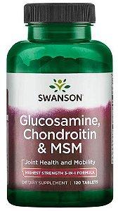 Glucosamina, Condroitina & MSM   120 Tablets - Swanson