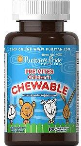 Multivitamínico / Polivitamínico Infantil   100 unidades mastigável - Puritan's Pride