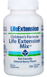 Children's Formula Life Extension Mix™ (Fórmula Infantil) | 120 pastilhas de frutas - Life Extension