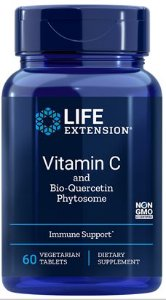Vitamina C e Fitossomo de Bioquercetina (Vitamin C and Bio-Quercetin Phytosome) | 60 tablets - Life Extension