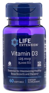 Vitamina D3 5.000 ui | 60 Softgels - Life Extension