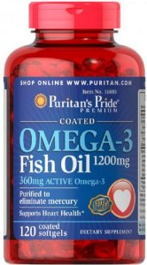 Omega-3 1200mg| 120 Softgels - Puritan