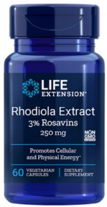 Rhodiola Extract 250mg | 60 Cápsulas - Life Extension