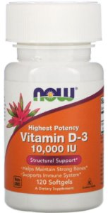 Vitamina D3 10.000 UI | 120 Softgels - NOW